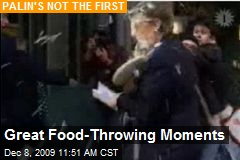 Great Food-Throwing Moments