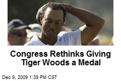Congress Rethinks Giving Tiger Woods a Medal