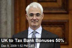 UK to Tax Bank Bonuses 50%