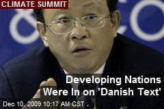 Developing Nations Were In on 'Danish Text'