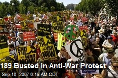 189 Busted in Anti-War Protest