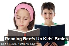 Reading Beefs Up Kids' Brains