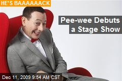 Pee-wee Debuts a Stage Show