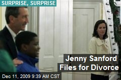 Jenny Sanford Files for Divorce