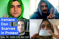 Iranians Don Scarves in Protest