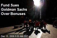 Fund Sues Goldman Sachs Over Bonuses