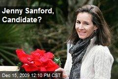Jenny Sanford, Candidate?