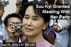 Suu Kyi Granted Meeting With Her Party