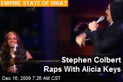 Stephen Colbert Raps With Alicia Keys