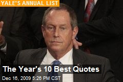 The Year's 10 Best Quotes
