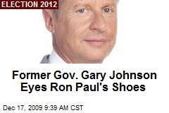 Former Gov. Gary Johnson Eyes Ron Paul's Shoes