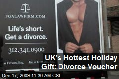 UK's Hottest Holiday Gift: Divorce Voucher