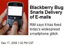 Blackberry Bug Snarls Delivery of E-mails