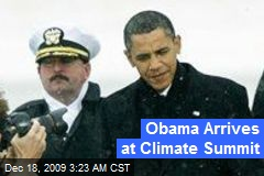Obama Arrives at Climate Summit