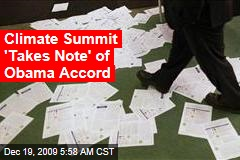 Climate Summit 'Takes Note' of Obama Accord