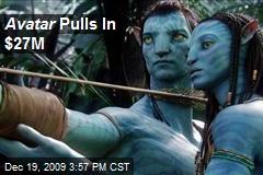 Avatar Pulls In $27M