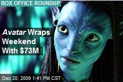 Avatar Wraps Weekend With $73M