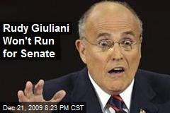 Rudy Giuliani Won't Run for Senate
