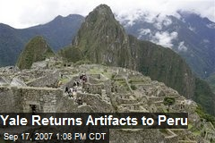 Yale Returns Artifacts to Peru