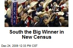 South the Big Winner in New Census