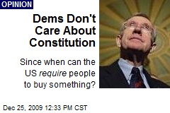Dems Don't Care About Constitution
