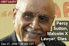 Percy Sutton, Malcolm X Lawyer, Dies