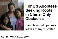 For US Adoptees Seeking Roots in China, Only Obstacles