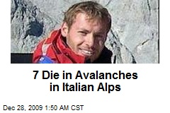 7 Die in Avalanches in Italian Alps