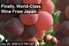 Finally, World-Class Wine From Japan