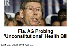 Fla. AG Probing 'Unconstitutional' Health Bill