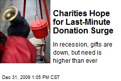 Charities Hope for Last-Minute Donation Surge