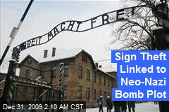 Sign Theft Linked to Neo-Nazi Bomb Plot