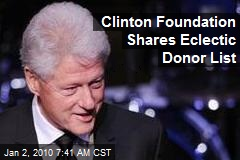 Clinton Foundation Shares Eclectic Donor List