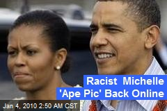 Racist Michelle 'Ape Pic' Back Online