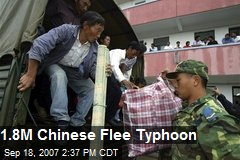 1.8M Chinese Flee Typhoon