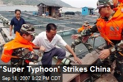 'Super Typhoon' Strikes China
