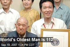 World's Oldest Man Is 112