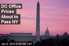 DC Office Prices About to Pass NY