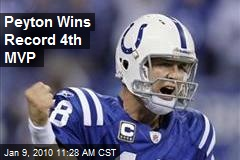 Peyton Wins Record 4th MVP