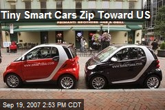 Tiny Smart Cars Zip Toward US