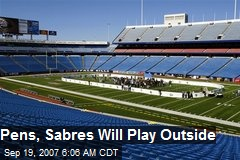 Pens, Sabres Will Play Outside
