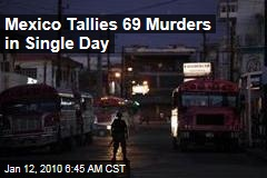 Mexico Tallies 69 Murders in Single Day
