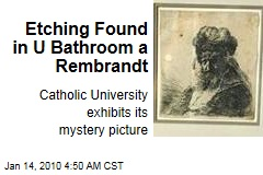 Etching Found in U Bathroom a Rembrandt