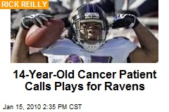 14-Year-Old Cancer Patient Calls Plays for Ravens