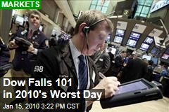 Dow Falls 101 in 2010's Worst Day