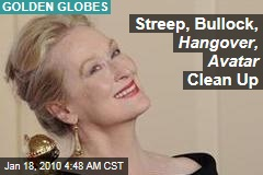 Streep, Bullock, Hangover, Avatar Clean Up