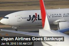 Japan Airlines Goes Bankrupt