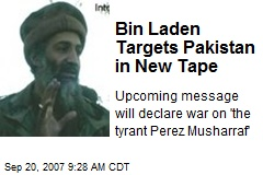 Bin Laden Targets Pakistan in New Tape