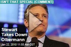Stewart Takes Down Olbermann