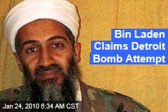 Bin Laden Claims Detroit Bomb Attempt